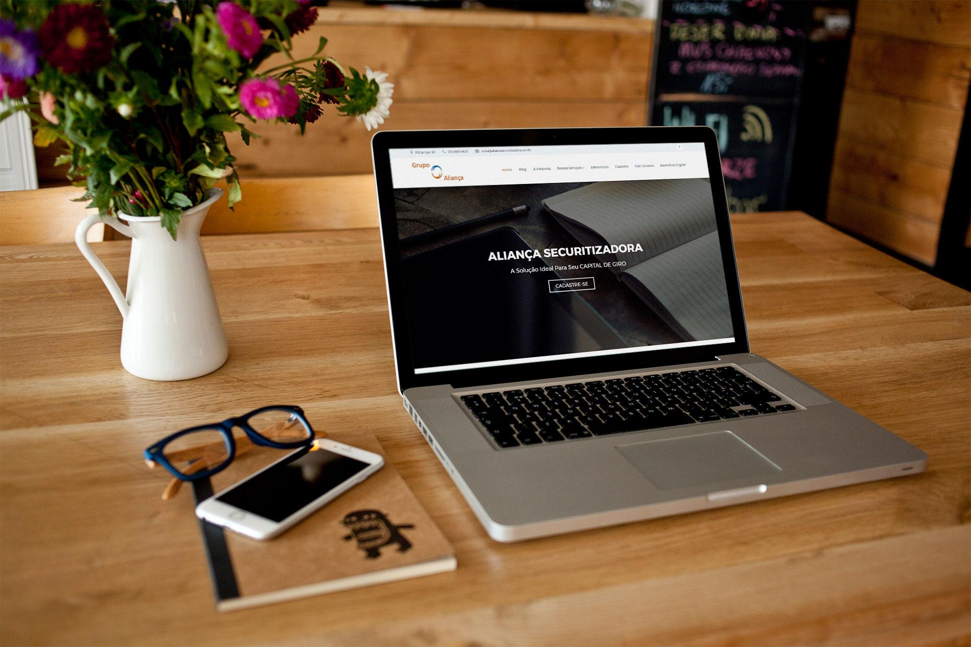Aliança Securitizadora – Site Institucional
