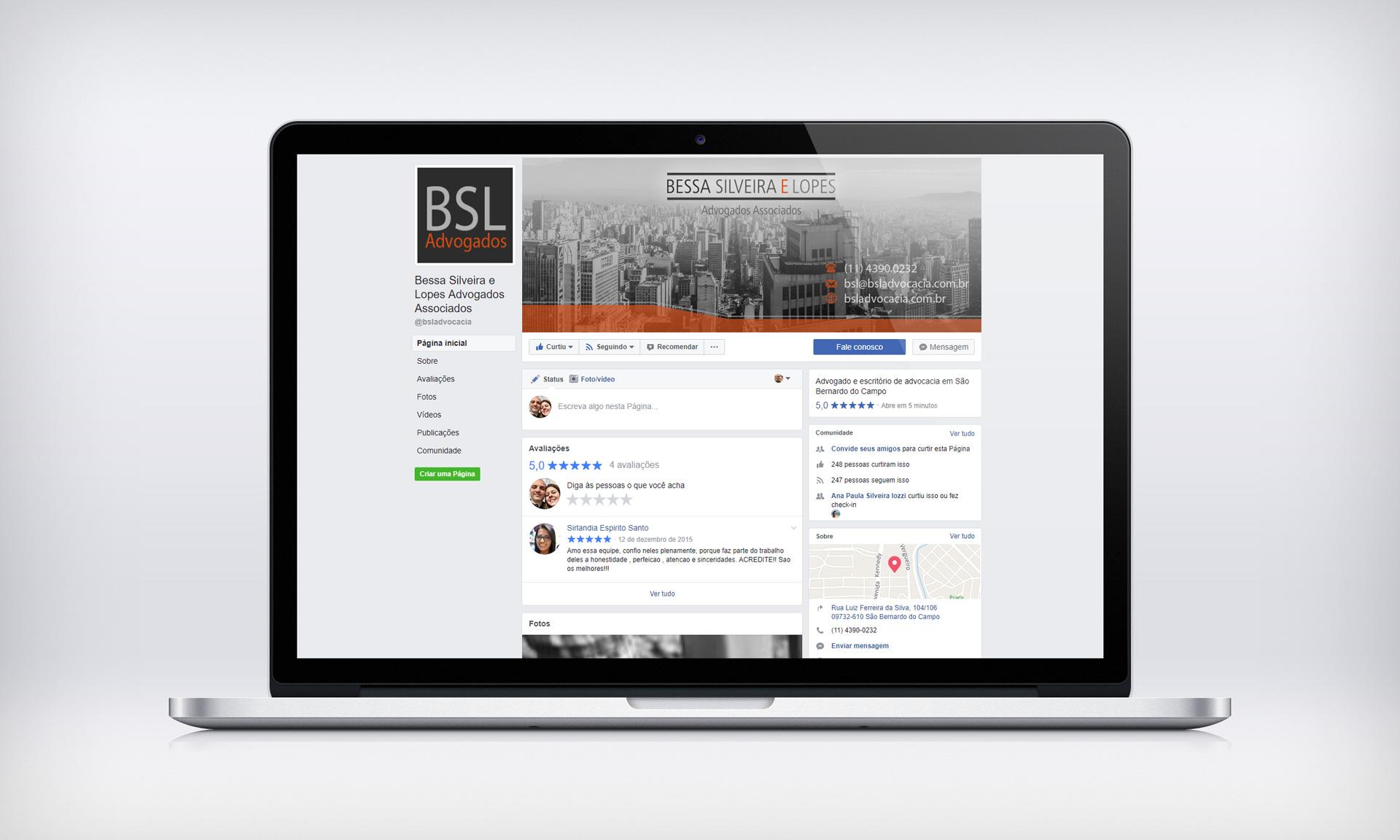 BSL Advogados Associados – Imagens para Facebook | Redes Sociais