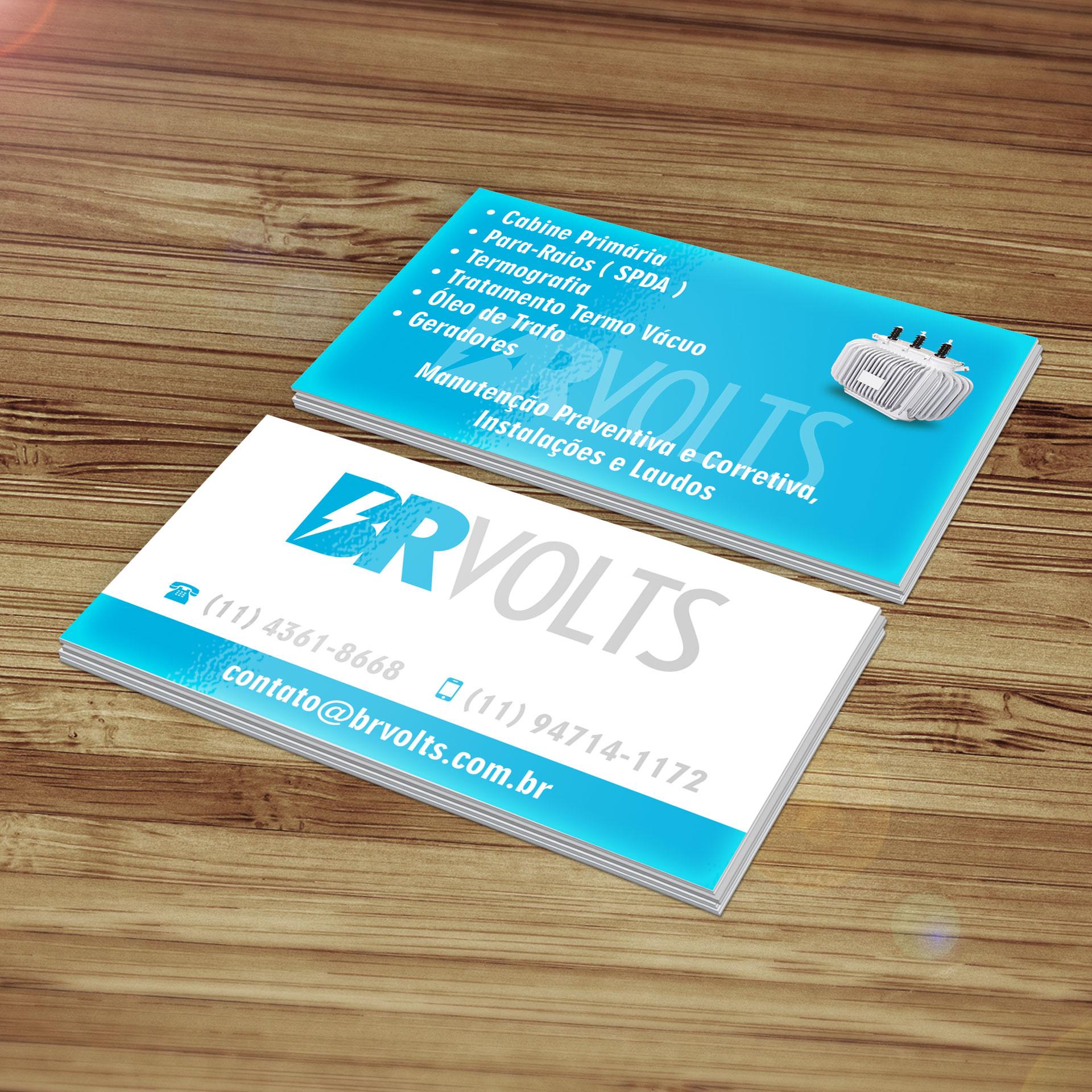 BR Volts – Cartão de Visitas, Logotipo e Site